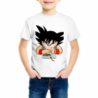 Kid Fashion T shirt New Arrival Color dragon ball Children's T-shirt Cool Tops Short Sleeve boy/girl Cartoon Hipster Tees C4-73