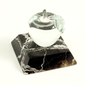Marble Paperweight, Apple