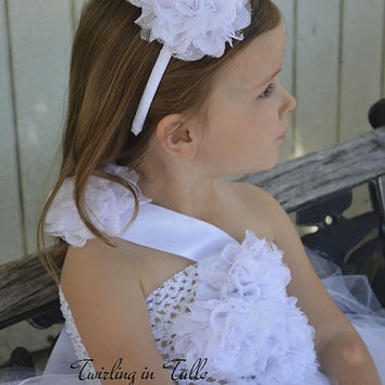 White Tulle Headband