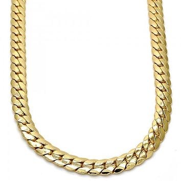 Gold Tone Basic Necklace, Gold Tone