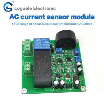 0-5A 0-10A 0-20A  AC current sensor to detect the full range of linear output delay
