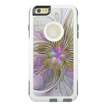 Floral abstract and colorful Fractal Art OtterBox iPhone 6/6s Plus Case