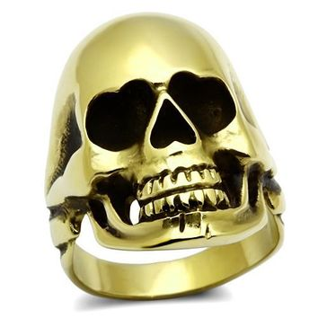 Gold Skull Eye Heart Ring