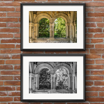 Scenic Nature Photography Prints - Black and White or Color - 8x10 - 5x7 - Castle Arches Print