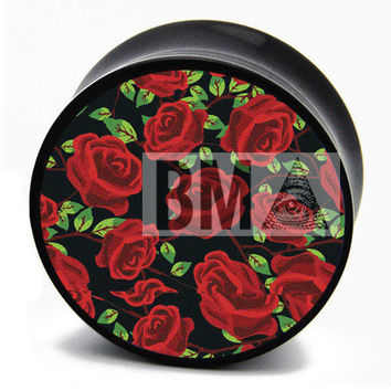 10g (2.5mm) 90's Roses BMA Plugs Single Flare Pair