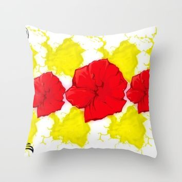 SUNSHINE Throw Pillow by violajohnsonriley