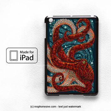 Mosaic Octopus Art iPad Mini 1 2 , iPad 2 3 4 , iPad Air Case