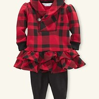 Ralph Lauren Baby Set, Baby Girls Plaid Tunic and Leggings