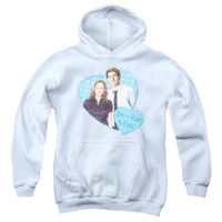 THE OFFICE/JIM & PAM 4 EVER-YOUTH PULL-OVER HOODIE - WHITE -