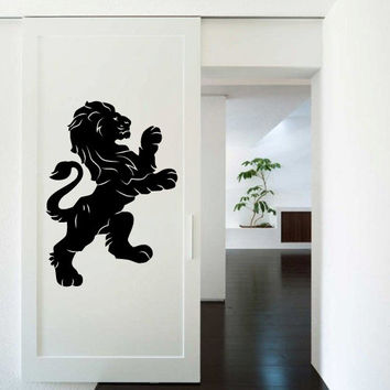 Wall Decor Vinyl Sticker Room Decal Lion Tiger Animal Cat Predator Africa Power King Force Cute (s226)