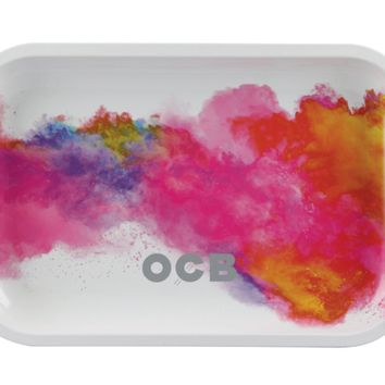 OCB Metal Rolling Tray - Holi White (Mini)