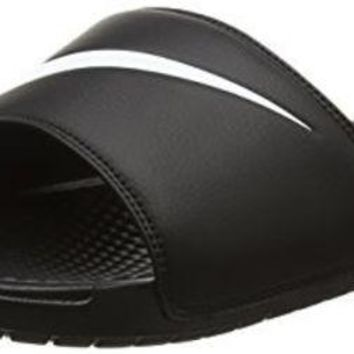 VONESL5 NIKE BENASSI SWOOSH SLIDE SANDALS 14 Men US (BLACK/WHITE)