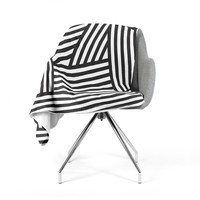 "Louise Machado ""Black Stripes"" Fleece Throw Blanket"