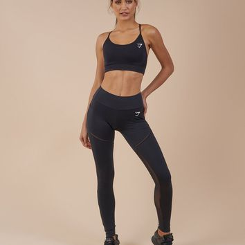 Gymshark Simply Mesh Leggings - Black