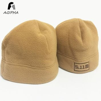 Military Tactical Winter Warm Beanie Hats For Women Men Embroidery Letter Army Green Solid Female Male Cap Type F001