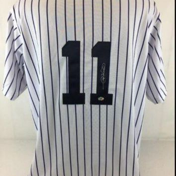 ONETOW Gary Sheffield Signed Autographed New York Yankees Baseball Jersey (Gary Sheffield Authenticated)