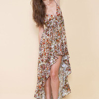 MARKET HQ | Zambia Hi Low Maxi Dress