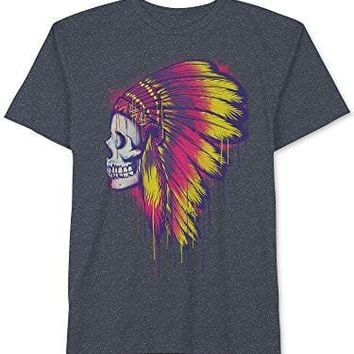 Jem Skull Indian Headdress Graphic-Print T-Shirt