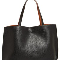 Leather Tote & Wristlet