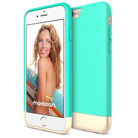 The Mint and Champagne Gold Dual Layer Slider / Soft Interior Cover iPhone 6/6s Case