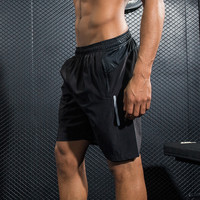Men Sports professional Running reflective Shorts Training Soccer table tennis Workout fitness GYM Quick Dry breathable Shorts