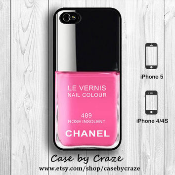 Chanel Nail Polish Rose Pink inspired iPhone 5 Case iPhone 4S 4 Case Color Gel iPhone 5S Back Cover --000070