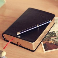 Vintage Thick Paper Notebook Notepad Leather Bible Diary Book Journals Agenda Planner School Office Stationery Supplies Notebook