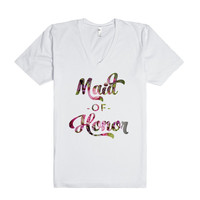 Floral Maid of Honor (Wedding Party Group Shirts)