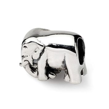 Sterling Silver Walking Elephant Bead Charm