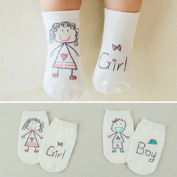 New COTTON  Unisex Newborn 0-36 Month Baby Socks ankle Cotton Socks Boys Girls Cute Pattern Floor Socks soft Anti-slip Socks