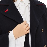 Topshop Twill Peacoat | Nordstrom