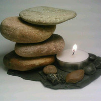 Rock Tealight Candle Holder