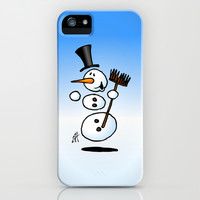Dancing snowman iPhone & iPod Case by Cardvibes