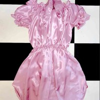 SWEET LORD O'MIGHTY! BABYGIRL SILK DRESS IN DUSTY PINK