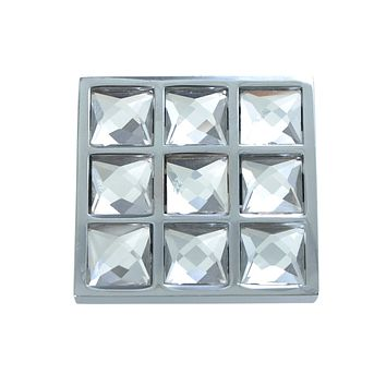 Gleam Grid 1-1/2 in. Polished Chrome Cabinet Knob