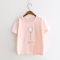 2017 Summer Kawaii Pink T-Shirts Women Harajuku Female T-Shirt Tops K-pop Tees For Ladies Cotton High Quality Slim Fit T Shirt