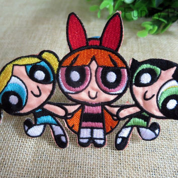 Cartoon The Powerpuff Girls Iron on Patch 105-HA