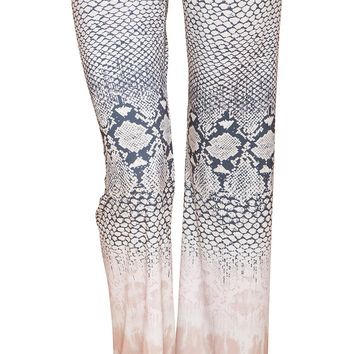 Printed Jersey Flare Pants