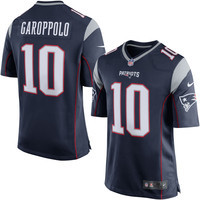 Men's New England Patriots Jimmy Garoppolo Nike Navy Game Jersey