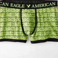 AEO Men's Geo Low Rise Trunk (Limeade)
