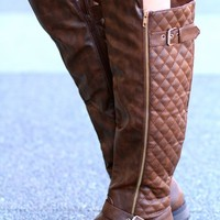 Forever Your Girl Quilted Tall Riding Boot