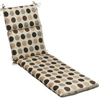 Chair Cushion - Beige, Brown And Black Polka Dot