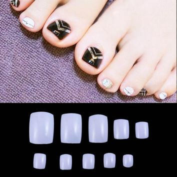 Acrylic False Toe 3D Nails Art Tips 500Pcs White Natural Clear UV Gel Toe/Nail Art Tips,False Toe Nail Art Tips for DIY nail art