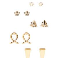 FOREVER 21 Angular Stud Set Gold/Gunmetal One