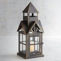 Black Metal Boho House Lantern