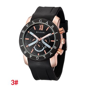 "Hot Sale ""Bvlgari"" Popular Women Men Movement Quartz Watches Couple Wristwatch"