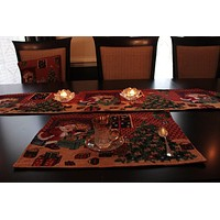 8 Piece Last Minute Table Set, 2 Table Runners, 2 Cushion Covers, and 4 Placemats (TA-DB11869PM-8PCST)