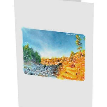 "Castlewood Canyon Watercolor 10 Pack of 5x7"" Side Fold Blank Greeting Cards"