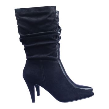Area Slouchy Pointed Toe High Heel Calf Height Dress Boots