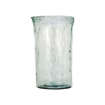 Maya Extra Large Vase In Recycled Glass Recycled